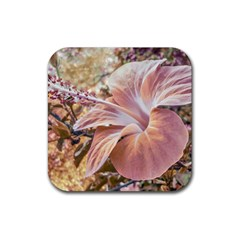 Fantasy Colors Hibiscus Flower Digital Photography Drink Coaster (square) by dflcprints