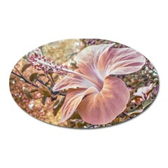 Fantasy Colors Hibiscus Flower Digital Photography Magnet (oval) by dflcprints