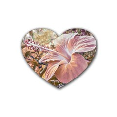 Fantasy Colors Hibiscus Flower Digital Photography Drink Coasters (heart) by dflcprints