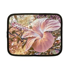 Fantasy Colors Hibiscus Flower Digital Photography Netbook Sleeve (small) by dflcprints