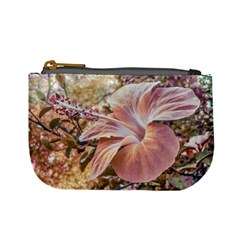 Fantasy Colors Hibiscus Flower Digital Photography Coin Change Purse by dflcprints