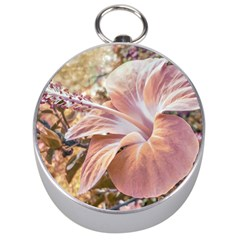 Fantasy Colors Hibiscus Flower Digital Photography Silver Compass by dflcprints