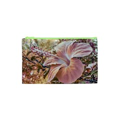 Fantasy Colors Hibiscus Flower Digital Photography Cosmetic Bag (xs) by dflcprints