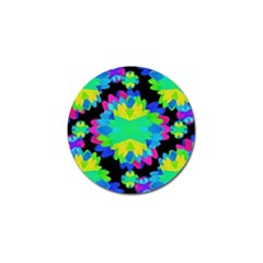 Multicolored Floral Print Geometric Modern Pattern Golf Ball Marker by dflcprints