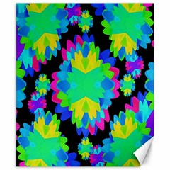 Multicolored Floral Print Geometric Modern Pattern Canvas 8  X 10  (unframed) by dflcprints