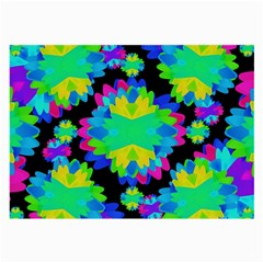 Multicolored Floral Print Geometric Modern Pattern Glasses Cloth (large, Two Sided) by dflcprints