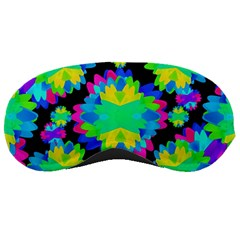 Multicolored Floral Print Geometric Modern Pattern Sleeping Mask by dflcprints