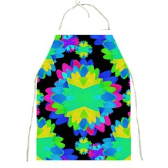 Multicolored Floral Print Geometric Modern Pattern Apron by dflcprints