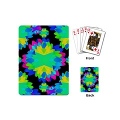 Multicolored Floral Print Geometric Modern Pattern Playing Cards (mini) by dflcprints
