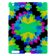 Multicolored Floral Print Geometric Modern Pattern Apple Ipad 3/4 Hardshell Case by dflcprints