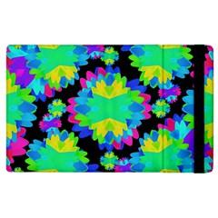 Multicolored Floral Print Geometric Modern Pattern Apple Ipad 2 Flip Case by dflcprints