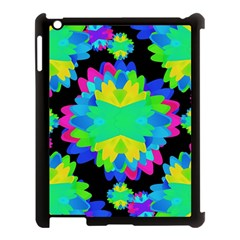 Multicolored Floral Print Geometric Modern Pattern Apple Ipad 3/4 Case (black) by dflcprints