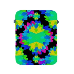Multicolored Floral Print Geometric Modern Pattern Apple iPad Protective Sleeve by dflcprints