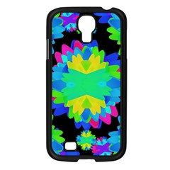 Multicolored Floral Print Geometric Modern Pattern Samsung Galaxy S4 I9500/ I9505 Case (black) by dflcprints