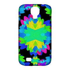 Multicolored Floral Print Geometric Modern Pattern Samsung Galaxy S4 Classic Hardshell Case (pc+silicone) by dflcprints