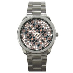 Modern Arabesque Pattern Print Sport Metal Watch by dflcprints