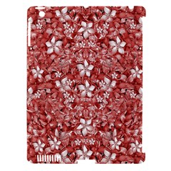 Flowers Pattern Collage In Coral An White Colors Apple Ipad 3/4 Hardshell Case (compatible With Smart Cover) by dflcprints