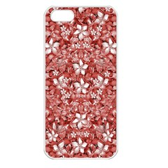 Flowers Pattern Collage In Coral An White Colors Apple Iphone 5 Seamless Case (white) by dflcprints