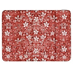 Flowers Pattern Collage In Coral An White Colors Samsung Galaxy Tab 7  P1000 Flip Case by dflcprints