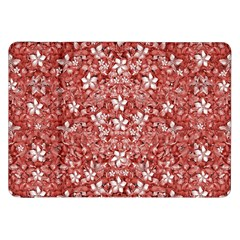 Flowers Pattern Collage In Coral An White Colors Samsung Galaxy Tab 8 9  P7300 Flip Case by dflcprints