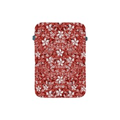Flowers Pattern Collage in Coral an White Colors Apple iPad Mini Protective Sleeve by dflcprints