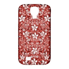 Flowers Pattern Collage In Coral An White Colors Samsung Galaxy S4 Classic Hardshell Case (pc+silicone) by dflcprints