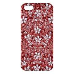 Flowers Pattern Collage In Coral An White Colors Iphone 5s Premium Hardshell Case by dflcprints