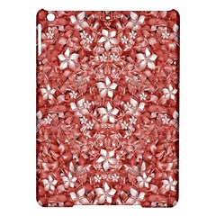 Flowers Pattern Collage In Coral An White Colors Apple Ipad Air Hardshell Case by dflcprints