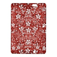 Flowers Pattern Collage In Coral An White Colors Kindle Fire Hdx 8 9  Hardshell Case by dflcprints