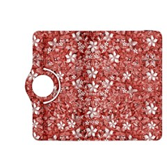 Flowers Pattern Collage In Coral An White Colors Kindle Fire Hdx 8 9  Flip 360 Case