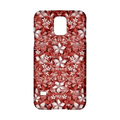 Flowers Pattern Collage In Coral An White Colors Samsung Galaxy S5 Hardshell Case  by dflcprints
