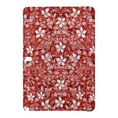 Flowers Pattern Collage In Coral An White Colors Samsung Galaxy Tab Pro 10 1 Hardshell Case