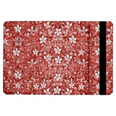 Flowers Pattern Collage In Coral An White Colors Apple Ipad Air Flip Case by dflcprints