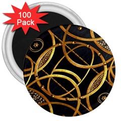 Futuristic Ornament Decorative Print 3  Button Magnet (100 Pack) by dflcprints