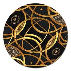Futuristic Ornament Decorative Print Magnet 5  (Round) by dflcprints