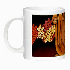 Cute Creature Fantasy Illustration Glow In The Dark Mug by dflcprints