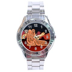 Cute Creature Fantasy Illustration Stainless Steel Watch by dflcprints
