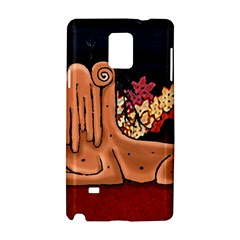 Cute Creature Fantasy Illustration Samsung Galaxy Note 4 Hardshell Case by dflcprints