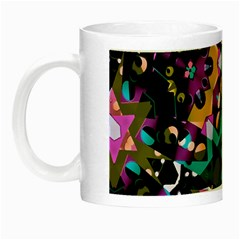 Digital Futuristic Geometric Pattern Glow In The Dark Mug by dflcprints