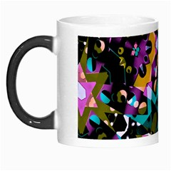 Digital Futuristic Geometric Pattern Morph Mug by dflcprints