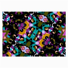 Digital Futuristic Geometric Pattern Glasses Cloth (large, Two Sided) by dflcprints