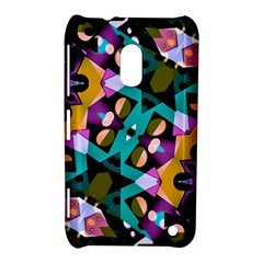 Digital Futuristic Geometric Pattern Nokia Lumia 620 Hardshell Case