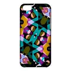 Digital Futuristic Geometric Pattern Apple Iphone 5c Hardshell Case by dflcprints