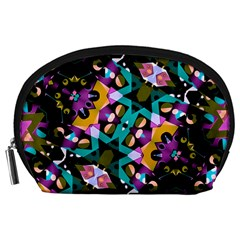 Digital Futuristic Geometric Pattern Accessory Pouch (large) by dflcprints