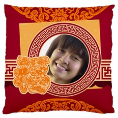 New Year By Ch   Large Flano Cushion Case (two Sides)   Qwuf7ge19fmc   Www Artscow Com Back