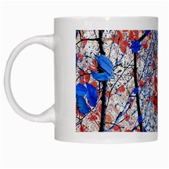 Floral Pattern Digital Collage White Coffee Mug by dflcprints