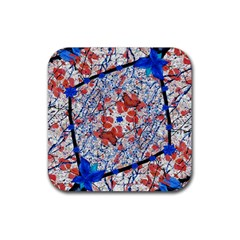 Floral Pattern Digital Collage Drink Coasters 4 Pack (square) by dflcprints