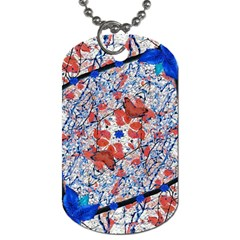 Floral Pattern Digital Collage Dog Tag (one Sided) by dflcprints