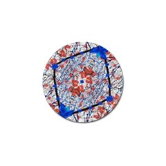 Floral Pattern Digital Collage Golf Ball Marker 4 Pack by dflcprints