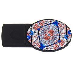 Floral Pattern Digital Collage 2gb Usb Flash Drive (oval) by dflcprints